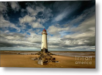 Lighthouse Point Of Ayre Metal Print by Adrian Evans
