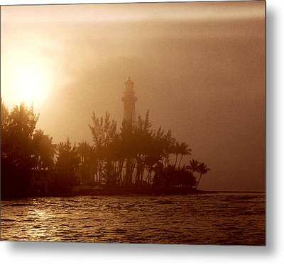 Lighthouse Point Sunrise Metal Print by Brent L Ander