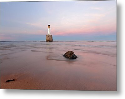 Metal Print featuring the photograph Lighthouse Sunset Rattray Head by Grant Glendinning