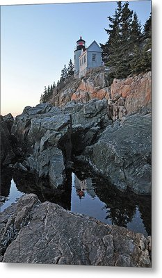 Metal Print featuring the photograph Lighthouse Reflection by Glenn Gordon