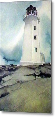 Lighthouse Rock Metal Print
