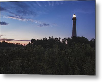 Lighthouse Summer Sunrise Metal Print