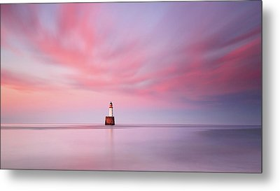 Lighthouse Sunset Metal Print by Grant Glendinning