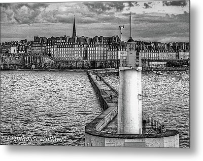 Metal Print featuring the photograph Lighthouse Walkway by Elf Evans