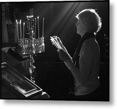 Lighting A Prayer 1 Metal Print by Julia Bridget Hayes