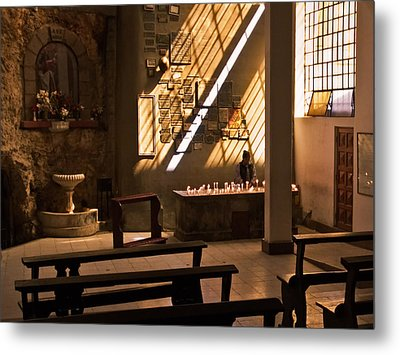 Metal Print featuring the photograph Lighting Candles by Ron Dubin