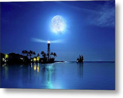 Lighting The Lighthouse Metal Print by Mark Andrew Thomas