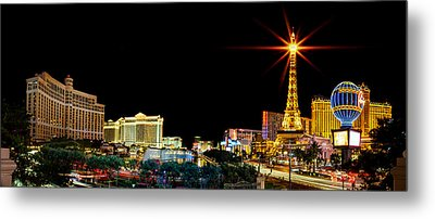 Lighting Up Vegas Metal Print by Az Jackson
