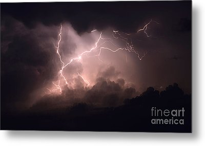 Lightning 2 Metal Print by Bob Christopher
