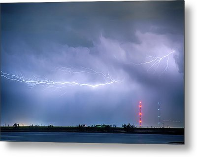 Lightning Bolting Across The Sky Metal Print by James BO  Insogna
