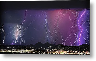 Lightning City Metal Print by James BO  Insogna