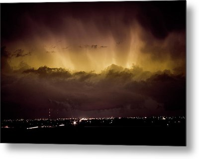 Lightning Cloud Burst Boulder County Colorado Im29 Metal Print by James BO  Insogna