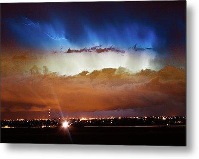 Lightning Cloud Burst Boulder County Colorado Im34 Metal Print by James BO  Insogna