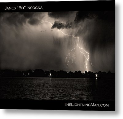 Lightning Energy Poster Print Metal Print by James BO  Insogna