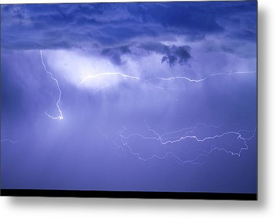 Lightning In The Rain Metal Print by James BO  Insogna
