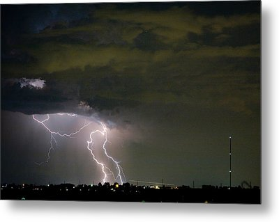 Lightning Man In The Clouds Metal Print by James BO  Insogna