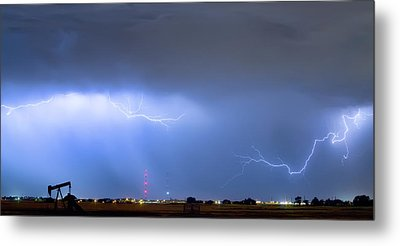 Metal Print featuring the photograph  Lightning Michelangelo Style Panorama by James BO Insogna