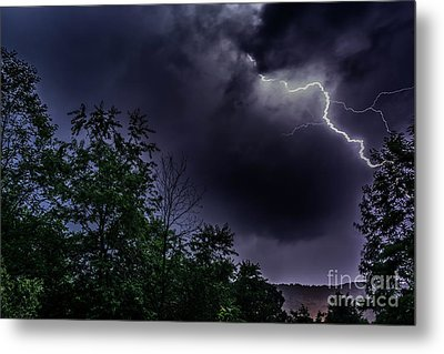 Lightning Strike Metal Print by Thomas R Fletcher