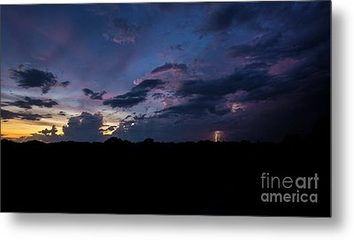 Metal Print featuring the photograph Lightning Sunset by Brian Jones