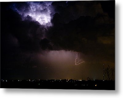 Lightning Thunderstorm Cell 08-15-10 Metal Print by James BO  Insogna
