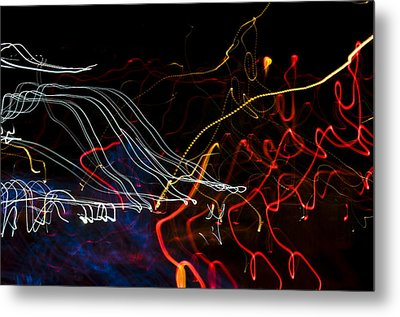 Lights Abstract1 Metal Print by Svetlana Sewell