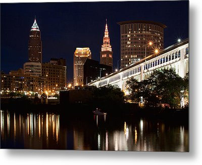 Lights In Cleveland Ohio Metal Print