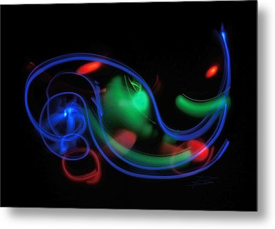 Lights In Motion Metal Print by Barbara  White