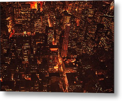Lights In The City Look Pretty To Me Metal Print by Diane C Nicholson