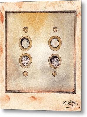 Lightswitch Metal Print by Ken Powers