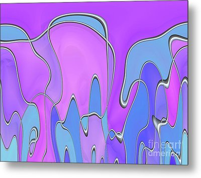 Metal Print featuring the digital art Lignes En Folie - 03a by Variance Collections