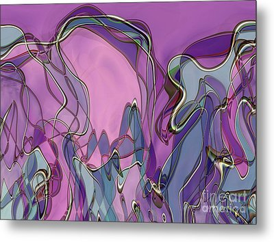 Metal Print featuring the digital art Lignes En Folie - 13a by Variance Collections