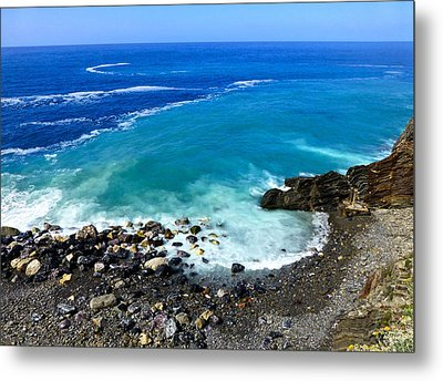 Ligurian Coastline Metal Print by Amelia Racca