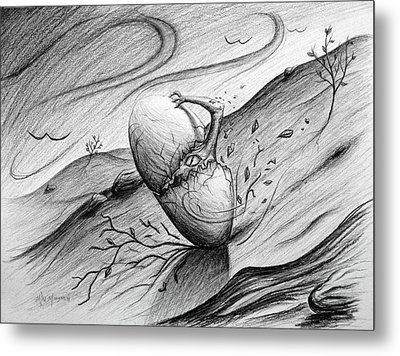 Like A Rolling Egg Metal Print by Michael Morgan