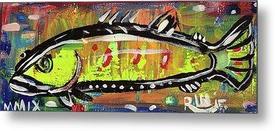 Lil Funky Folk Fish Number Twelve Metal Print by Robert Wolverton Jr