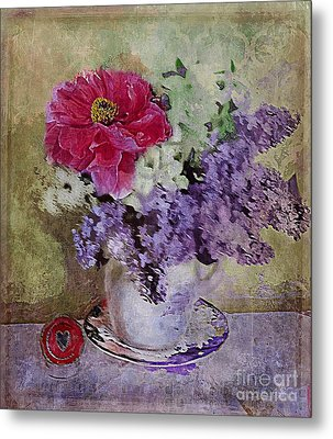 Lilac Bouquet Metal Print by Alexis Rotella
