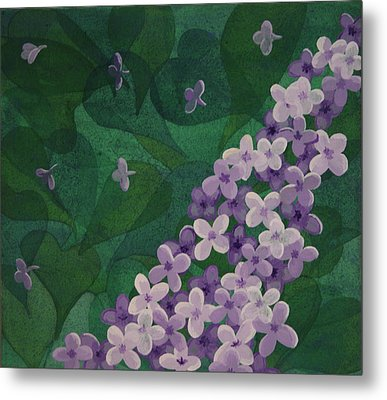 Metal Print featuring the painting Lilac by Paul Amaranto