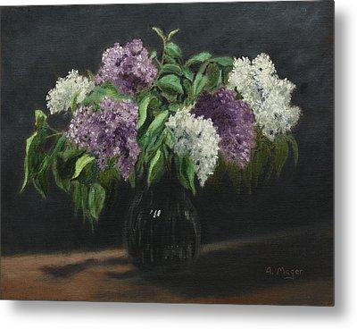 Lilacs Metal Print by Alan Mager