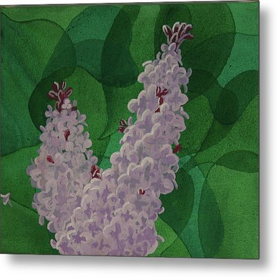 Metal Print featuring the painting Lilacs by Paul Amaranto