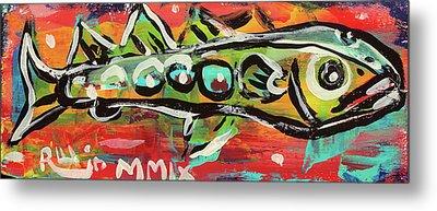 Lil'funky Folk Fish Number Nineteen Metal Print by Robert Wolverton Jr