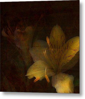 Lilies II Metal Print by Bonnie Bruno