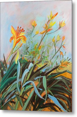 Lilies Of The Field Metal Print by Betty Pieper
