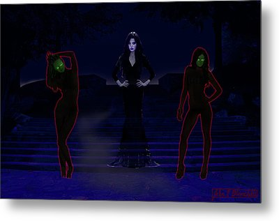 Lilith, Embraced By Night Metal Print by John Paul Blanchette