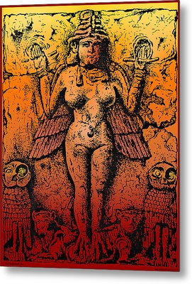 Lilith Goddess Of Death Queen Of The Night Metal Print by Larry Butterworth
