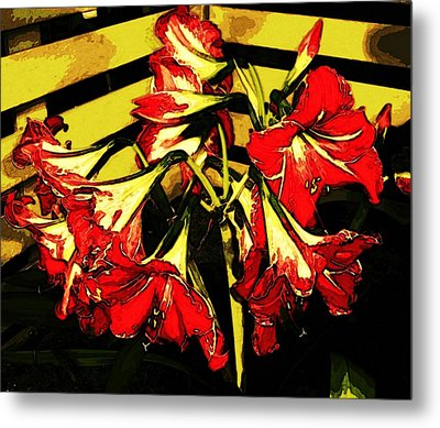 Metal Print featuring the digital art Lily Gem by Winsome Gunning