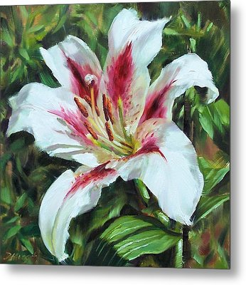 Lily Impression Metal Print by Donna Munsch