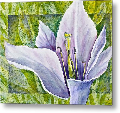 Lily In Purple Metal Print by Carolyn Rosenberger