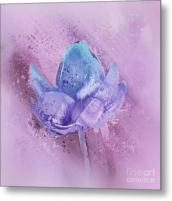 Metal Print featuring the digital art Lily My Lovely - S113sqc77 by Variance Collections