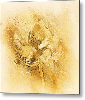 Metal Print featuring the digital art Lily My Lovely - S114sqc75v2 by Variance Collections