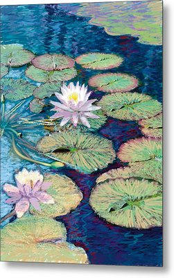 Lily Pads Metal Print by Valer Ian