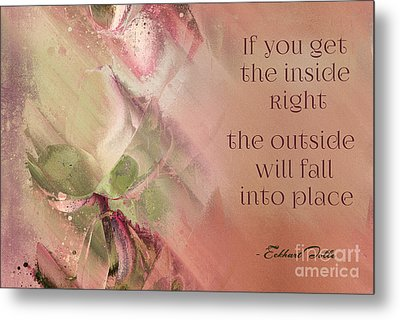 Metal Print featuring the digital art Lily Text - Et01b by Variance Collections